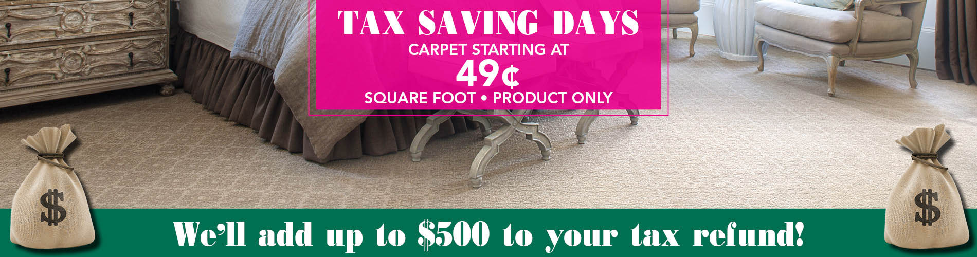 Carpet starting at $0.49 sq.ft. - Product Only